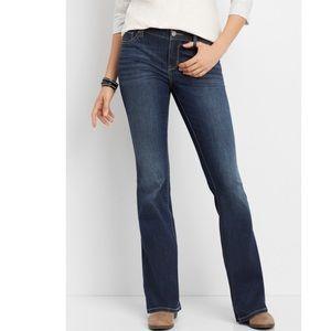 NWT Maurices DenimFlex dark wash flare jeans